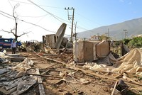 25 injured after tornado ravages homes, greenhouses in southwest Turkey