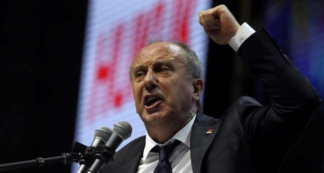 In this Saturday, Feb. 3, 2018 file photo, Muharrem Ince, a lawmaker with Turkey's main opposition Republican People's Party (CHP), addresses the party's congress in Ankara, Turkey. (AP Photo)