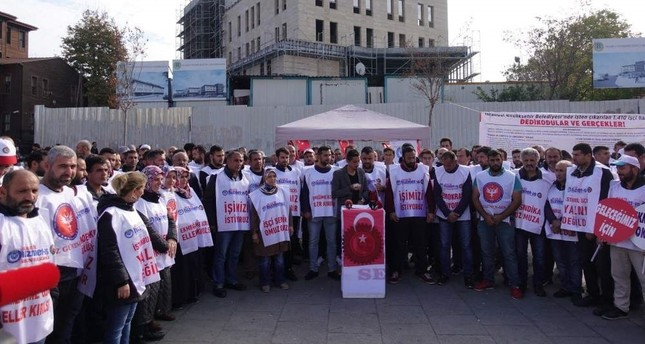 Workers who were fired by the new municipal administration have continued their protest in front of the Istanbul Municipality (?BB) building for 100 days.