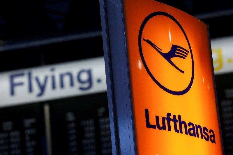 A Lufthansa airline logo is pictured in Frankfurt airport, Germany. (Reuters)