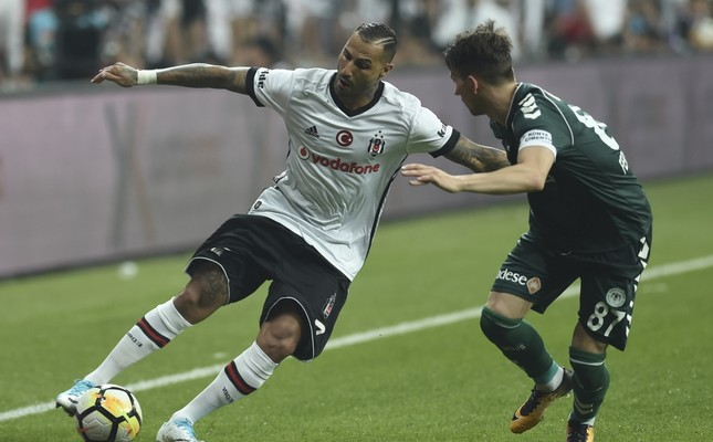 Beşiktaş winger Quaresma manages to get past his opponent to stroke in a powerful shot, giving his team a comfortable 2-0 lead.