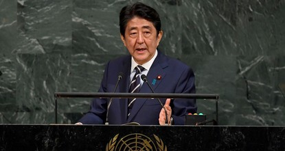pJapanese Prime Minister Shinzo Abe on Wednesday declared the time for dialogue with North Korea is over and rallied behind a U.S. warning that all options are on the table./p