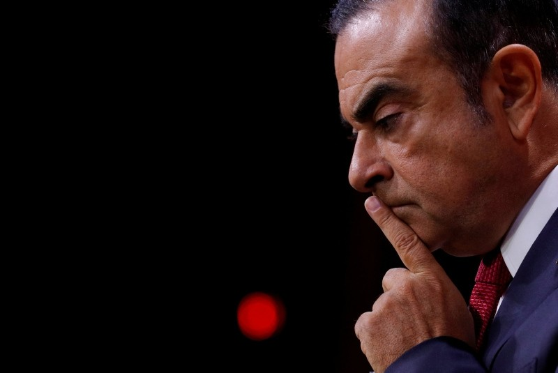 Carlos Ghosn, Chairman and CEO of the Renault-Nissan Alliance, reacts during a news conference in Paris, France, September 15, 2017. (Reuters Photo)