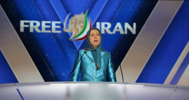 Maryam Rajavi delivers a speech during the meeting Free Iran 2018 - the Alternative,  Villepinte, June 30.