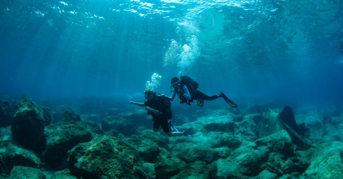 Kau015f is Turkey's number one diving spot for amateurs and professionals.