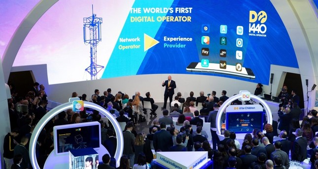 Turkcell CEO and Lifecell Chairman Kaan Terzioğlu shared the company's achievements at a press conference held on the sidelines of Mobile World Congress 2019 in Barcelona, Feb. 27, 2019.