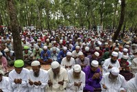 After fleeing violence in Myanmar, Rohingya refugees mark Eid holiday in Bangladesh