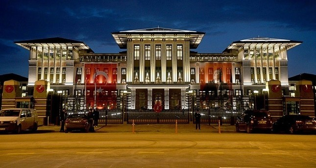 This file photo shows a general view of the Beu015ftepe Presidential Palace Complex in Ankara.