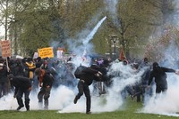 9 police officers injured, 63 protesters arrested after clashes in France