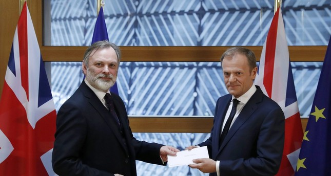EU receives letter from UK officially triggering Brexit