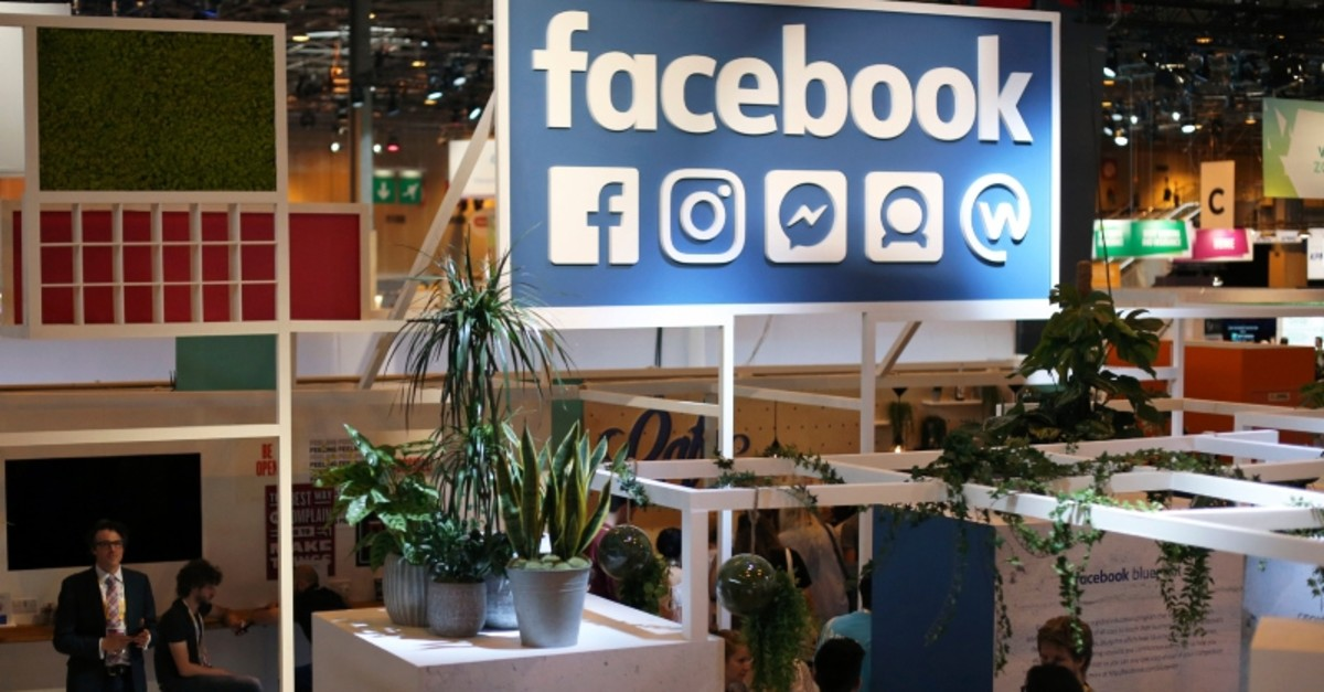 In this June 16, 2017 file photo, the Facebook booth is seen at the Vivatech, a gadgets show in Paris, France. (AP Photo)