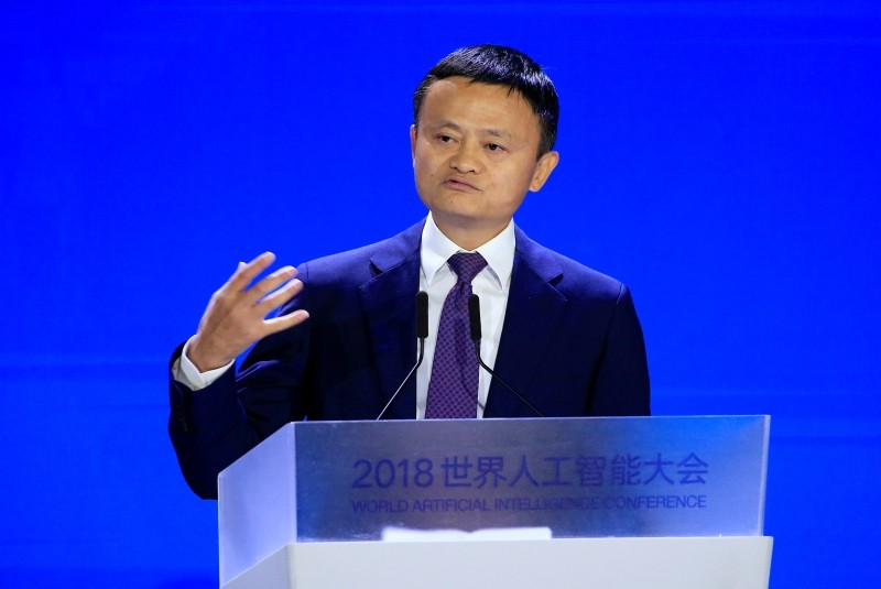 Alibaba Group co-founder and executive chairman Jack Ma attends the WAIC in Shanghai, China, September 17, 2018. (Reuters Photo)