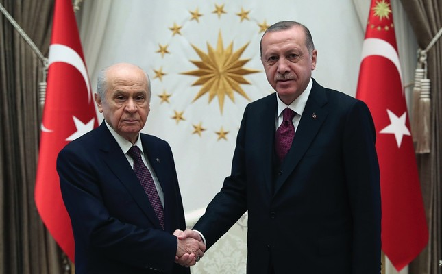 The AK Party & MHP formed the People's Alliance ahead of June 24 elections. The alliance received a majority in Parliament, while their presidential candidate, incumbent President Recep Tayyip Erdoğan, also won the election by 52.6 pct of the votes.