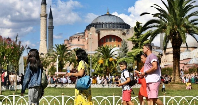 Turkey welcomed 45 million foreign visitors in 2019. AA Photo