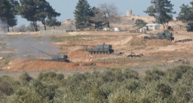 إرهابيو ي ب ك يضرمون النيران بحقول زراعية قرب الباب شمالي سوريا