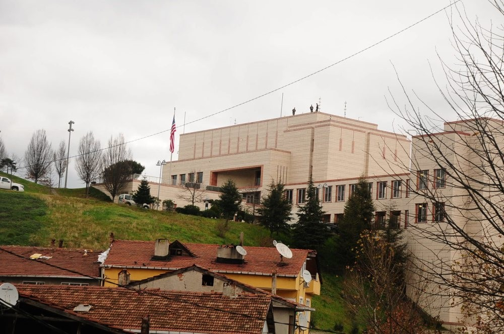 The U.S. Consulate in Istanbul's Saru0131yer district. The consulate employee M.T. was arrested on Oct.4 on espionage and terror charges.