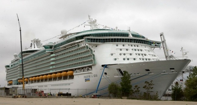 This May 11, 2006 file photo shows the Freedom of the Seas cruise ship docked in Bayonne, N.J. (AP Photo)