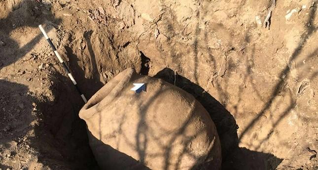 Farmer discovers 2,000 year-old terracota jar in Turkey's Malatya province