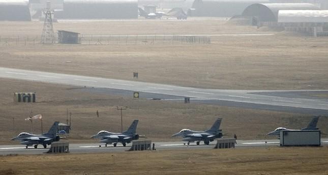 Turkish F-16 jets at Diyarbakır air base in southeast Turkey (Reuters)