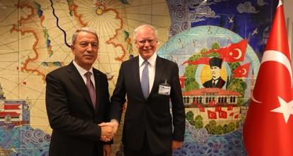 Akar, Jeffrey discuss Syria safe zone on Turkey visit