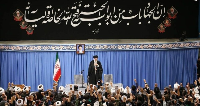 Iran's Supreme Leader Ayatollah Ali Khamenei addresses a meeting in Tehran, Iran, Jan. 8, 2020. AFP Photo