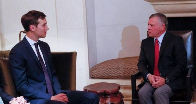 العاهل الأردني يبحث مع جاريد كوشنر تطورات عملية السلام والوضع في غزة
