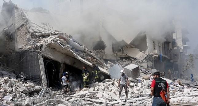 مقتل 20 مدنياً جراء قصف النظام بيت عزاء في حلب