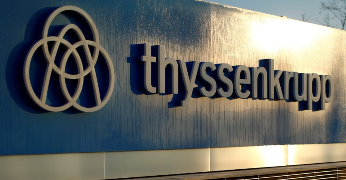 A logo of Thyssenkrupp AG is pictured at the company's headquarters in Essen, Germany, November 21, 2018 (Reuters Photo)