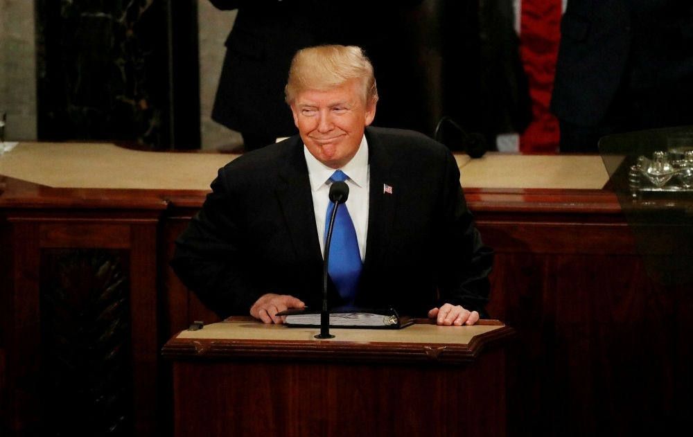 U.S. President Donald Trump delivers his State of the Union address to a joint session of the U.S. Congress on Capitol Hill, Washington, Jan. 30.