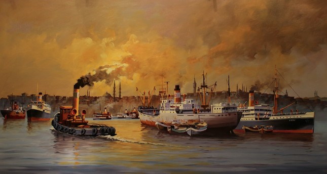 Ships to Watch at painting exhibition