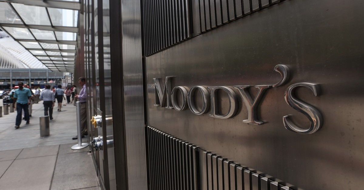 The Moodyu2019s rating agencyu2019s company headquarters in New York.
