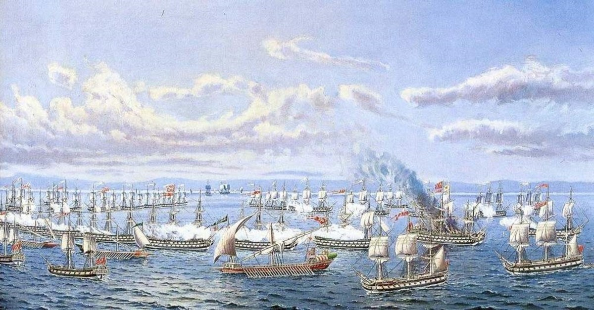 A depiction of an Ottoman armada in the early Middle Ages.