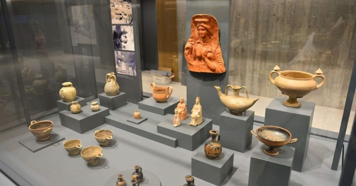 A selection of artifacts on display at the Troy Museum. (AA Photo)