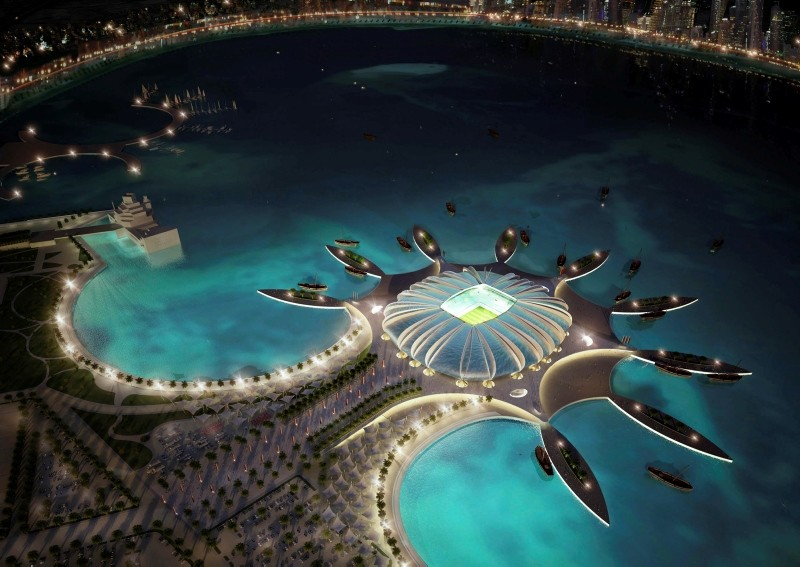 In this handout image supplied by Qatar 2022, the Doha Port stadium is pictured in this artistic impression as Qatar 2022 World Cup bid unveils it's stadiums on Sept. 16, 2010 in Doha, Qatar. (AFP Photo)