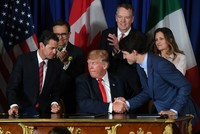US, Canada, Mexico ink revised NAFTA deal at G20 as trade tensions loom