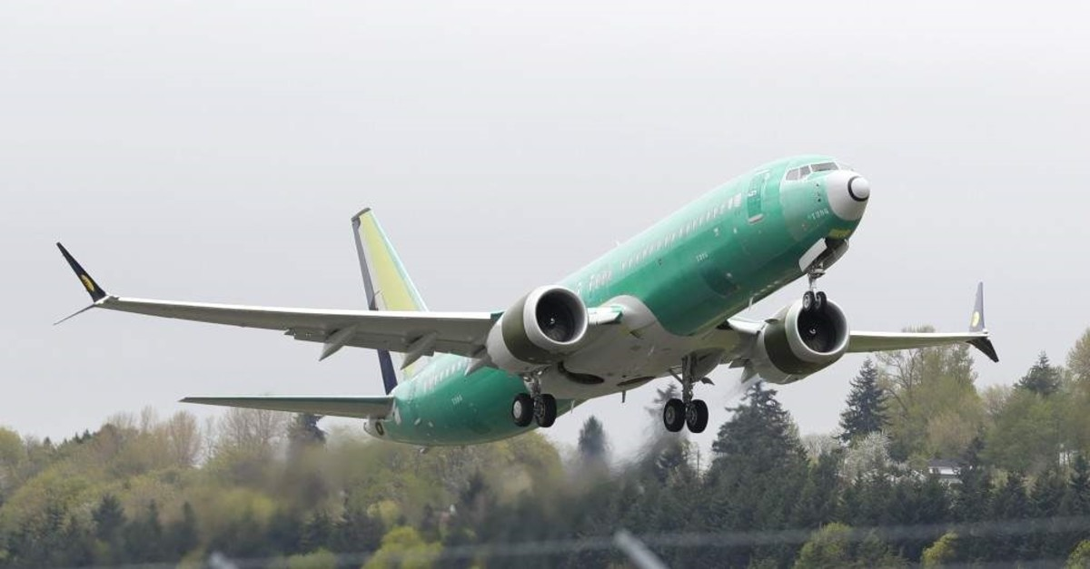 In this April 10, 2019, file photo a Boeing 737 Max 8 airplane being built for India-based Jet Airways, takes off on a test flight at Boeing Field in Seattle. (AP Photo)