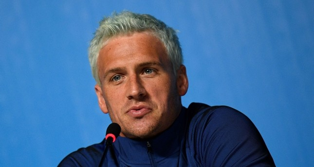 This August 03, 2016 file photo shows swimmer Ryan Lochte addressing a press conference in Rio de Janeiro, two days ahead of the opening ceremony of the Rio 2016 Olympic Games. (AFP Photo)