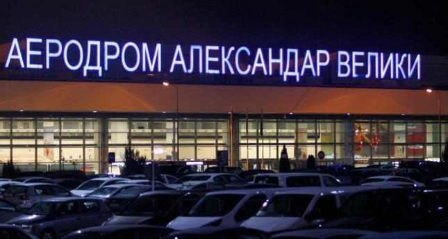 Cars are parked in front of the airport Alexander the Great in Skopje, Macedonia February 6, 2018. (Reuters Photo)