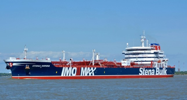 In this May 5, 2019 photo issued by Karatzas Images, showing the British oil tanker Stena Impero at unknown location, which is believed to have been captured by Iran (AP Photo)