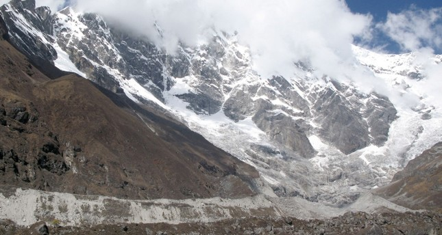 This file picture taken on October 13, 2008 shows a view of the Lirung Glacier in the Lantang Valley, some 60km (37.5 miles) northwest of Kathmandu (AFP Photo)
