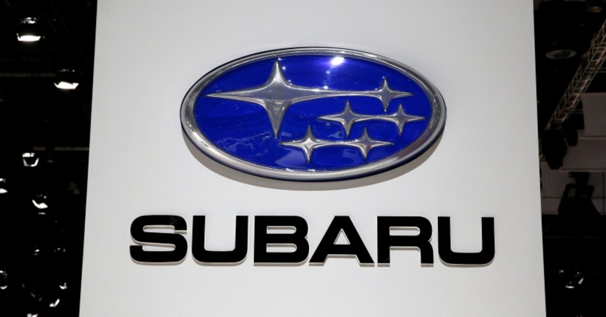 A Subaru logo is pictured during the 88th Geneva International Motor Show in Geneva, Switzerland, March 6, 2018. (REUTERS Photo)