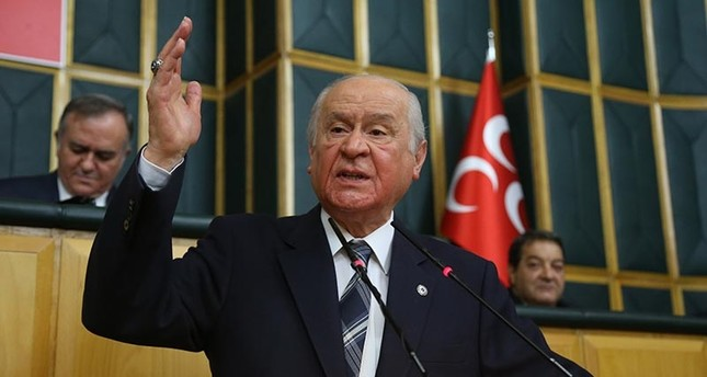 Nationalist Movement Party (MHP) Chairman Devlet Bahçeli speaks at parliamentary group meeting on Dec. 4, 2018. (IHA Photo)