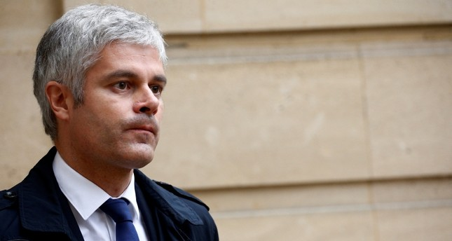 French conservative party Les Republicains (LR or The Republicans) leader Laurent Wauquiez leaves after a meeting with French Prime Minister as the yellow vest nationwide protests continue, at the Hotel Matignon in Paris, France, December 3, 2018.