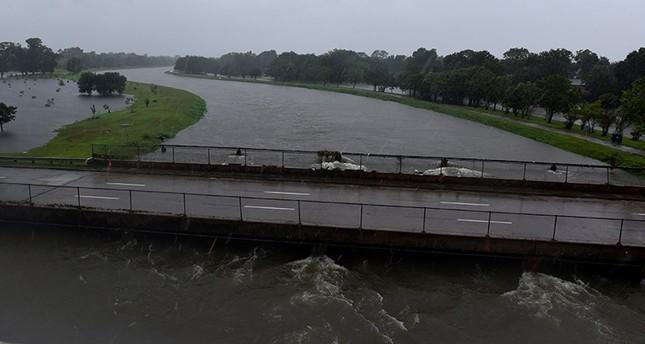 Brays Bayou floods near Interstate 610 after Hurricane Harvey inundated the Texas Gulf coast with rain causing widespread flooding, in Houston, Texas, U.S., Aug. 28, 2017. (Reuters Photo)