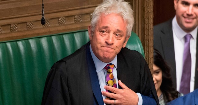 Bercow giving a personal statement in the House of Commons in London on September 9, 2019 to announce that he will stand down as the Speaker of the House of Commons on October 31 at the latest. (AP Photo)