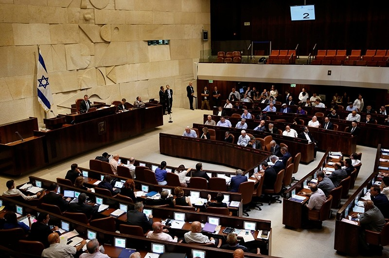 A general view shows the plenum during a session at the Knesset, the Israeli parliament, in Jerusalem on July 11, 2016. (Reuters Photo)