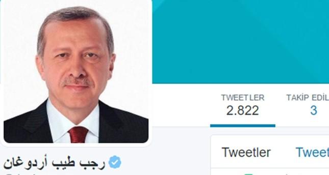 تغريدات أردوغان على تويتر تحظى بـ160 مليون مشاهدة