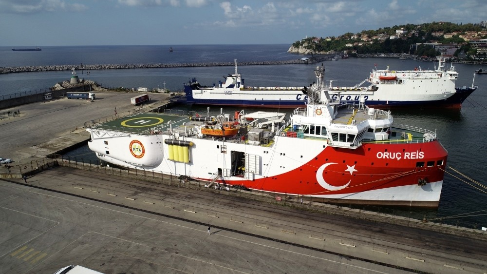 Turkey's seismic exploration vessel, MTA Oruu00e7 Reis, which was built by Turkish engineers at a local shipyard in Istanbul in June, is undertaking work in the Black Sea.