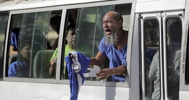 Nicaraguan marathon runner Alex Vanegas, who was kept in jail as a political prisoner, is pictured after being released from La Modelo prison in Managua on Feb. 27, 2019. (AFP Photo)