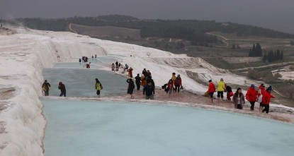 Unique thermal spring Pamukkale records best year ever in 2019